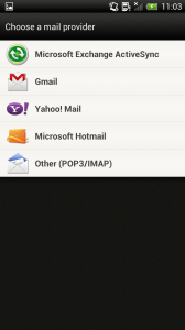 Set up email on an Android device