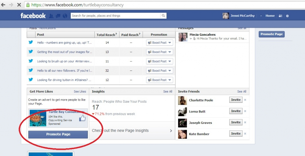 Promoting Your Page on Facebook