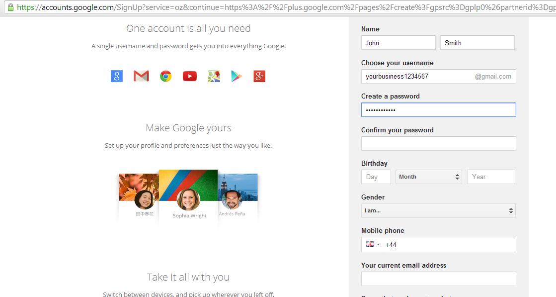 how to set up google+ business page
