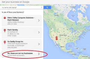 Google+ listing