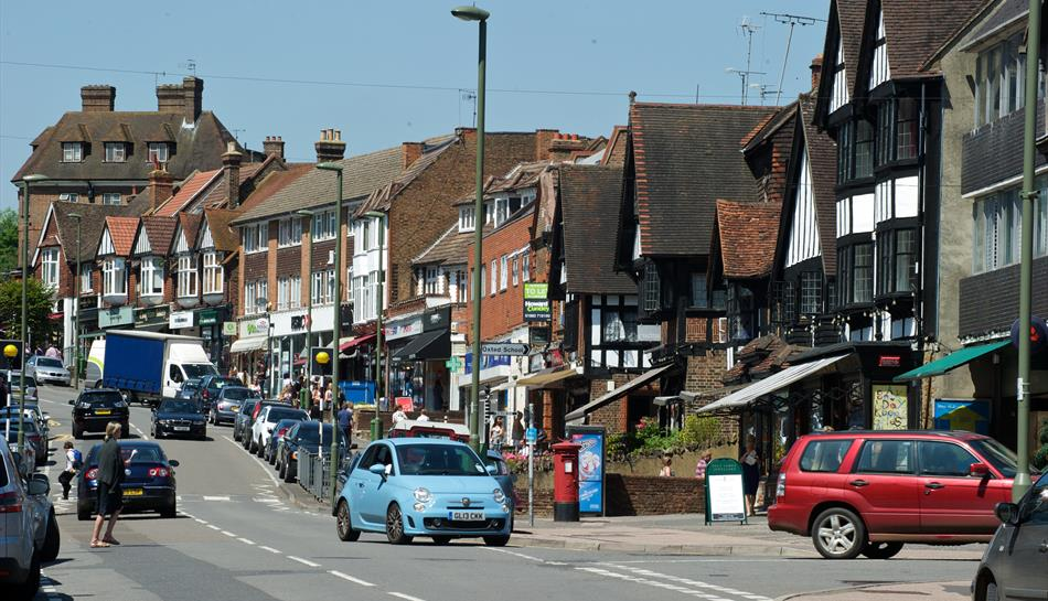 An image of Oxted town