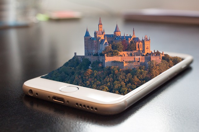 An image of a 3d picture on a phone